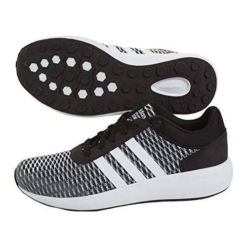adidas Cloudfoam Race W, Sneaker Bas du Cou Femme, Noir (Negbas/Ftwbla/Negbas), 38 EU