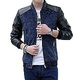 korean clothing for men - New Men 's PU Leather Jackets Korean Slim Collar Coat Jacket