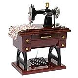 Classic Music Box Mini Sewing Maching Mechanical Music Box Table Desk Decoration - Mom Gift, Birthday, Grandma, Friend Who Love Sewing