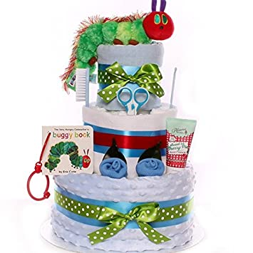 The Very Hungry Caterpillar Nappy Cake For A Baby Boy The Very