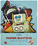 Ginger Ray Space Adventure Spaceship Robot Paper Party Bunting, Mixed