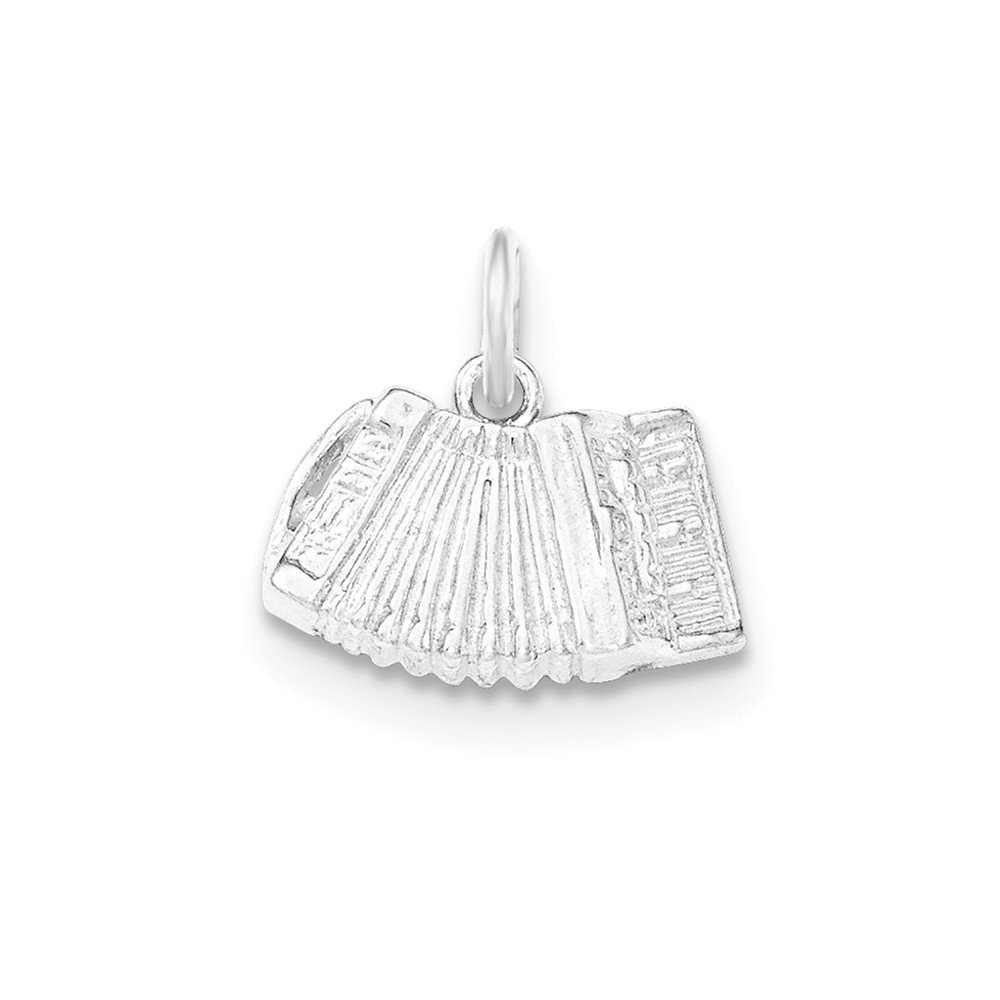 Sterling Silver Polished /& Textured Accordion Pendant