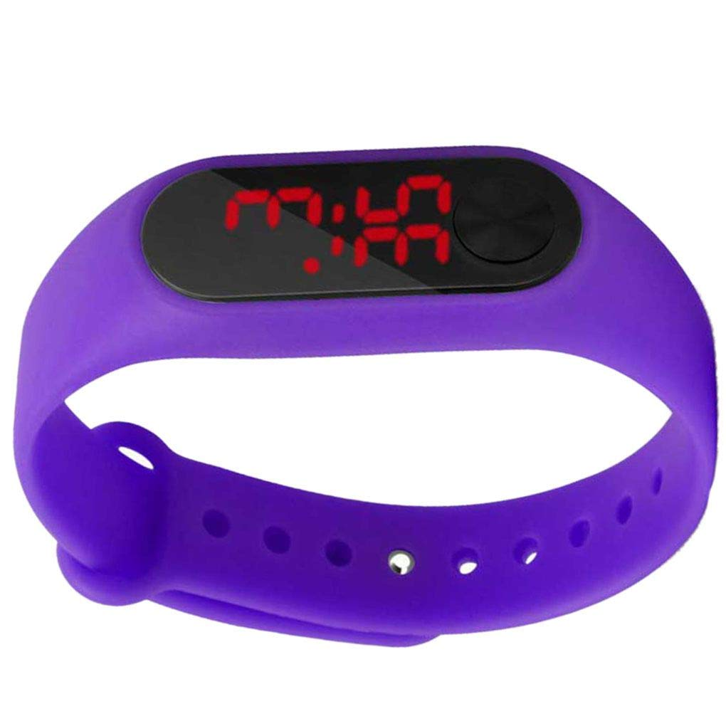 Riverlily Screen Display Children Thin Digital Wrist Watch Student Fitness Wristband Boy Girl Sports Supplies by Riverlily (Image #3)