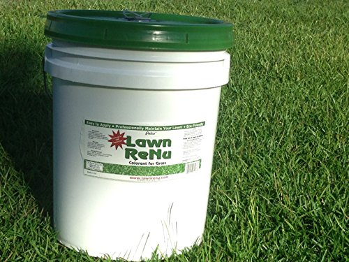 GREEN COLORANT FOR LAWN: 5 GALLON PAIL- Eco-friendly Super-Efficient, Non-Toxic Spray Turf Dye - 5 Gallon Bottle Revitalizes 20,000 Square Feet For Months.