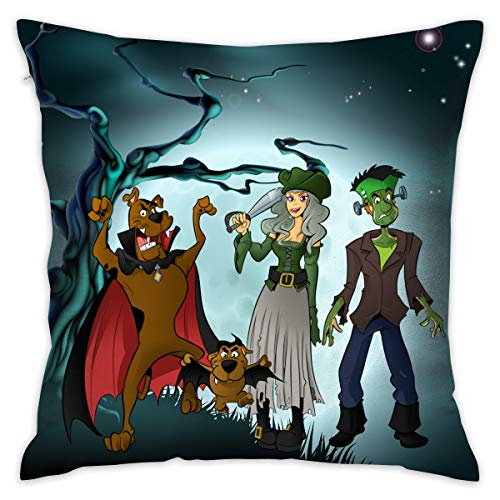 KOPDSE Halloween Scooby-doo Soft Square Throw Pillow Case Cushion Cover 18x18]()