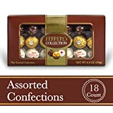 Ferrero Rocher Fine Hazelnut Milk Chocolates, 18 Count, Assorted Coconut Candy and Chocolate Collection Gift Box, 6.8 oz