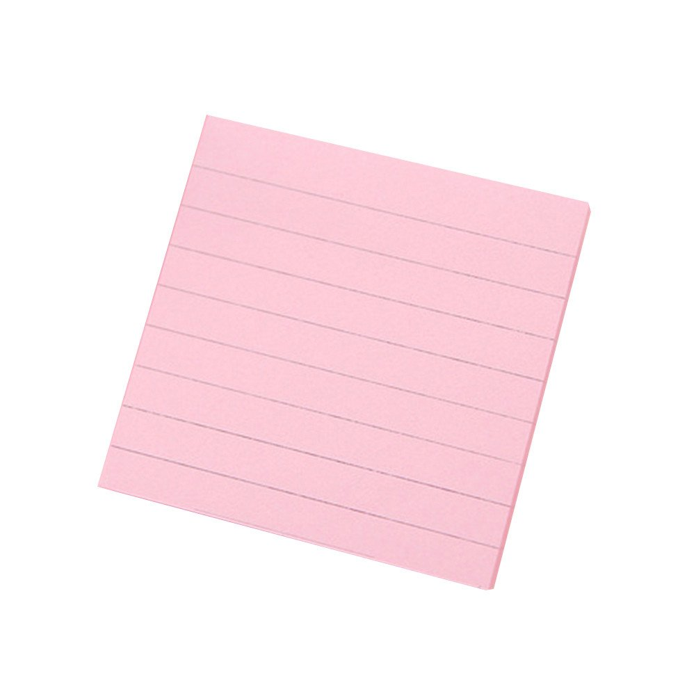 Self Adhesive Memo Sticky Note Sticker Notepad Stationery - Pink