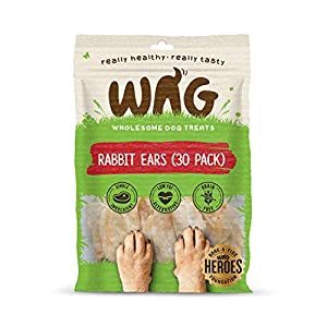 Rabbit Ears 30 Pack, Grain Free Hypoallergenic Natural Dog Treat Chew Click on image for further info.