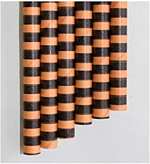 """product image for Aardvark Orange & Black Stripe Colossal Unwrapped Paper Straws 8.5"""""""
