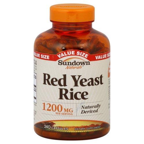 Sundown Naturals levure de riz rouge de 1200 mg Capsules Valeur Taille, 240 Count