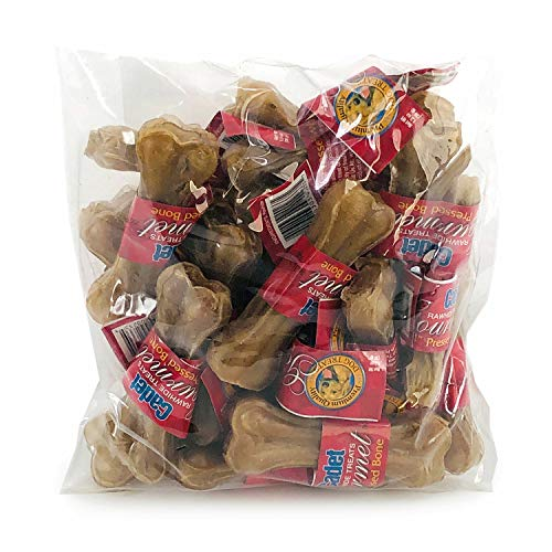 Cadet Pressed Rawhide Bone Dog Chews, 4 Inch, 20 Count, 5 Pack ()