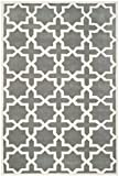 Cheap Safavieh Chatham Collection CHT732D Handmade Dark Grey and Ivory Premium Wool Area Rug (4′ x 6′)