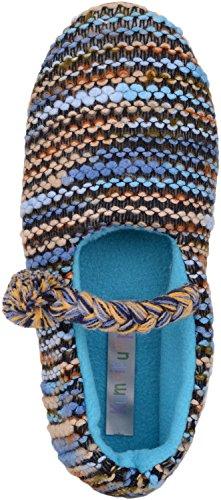Slip Da Donna / Donna Su Pantofole / Décolleté / Scarpe Da Interni Con Caldo Interno In Pile Polare Blu