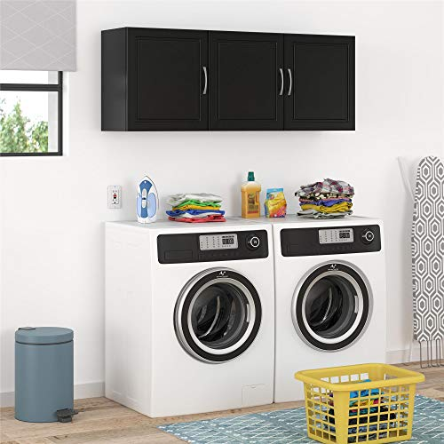 Storage Wall Cabinet Black - SystemBuild Kendall 54