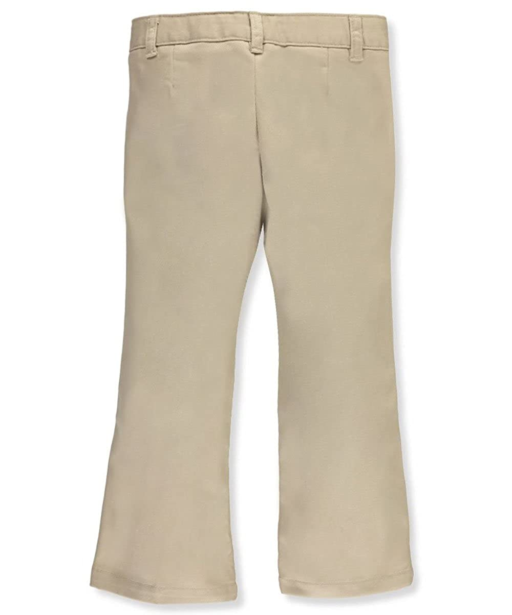 French Toast Adjustable Waist Drop Waist Flat Front Pants by khaki 12