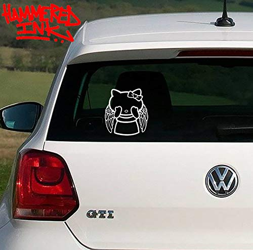Dr Who Hello Kitty Crying Angel Die Cut Vinyl Car & Truck Decal Window Sticker Hammered Ink