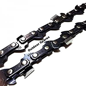 "Archer Outdoor Spares Tres unidades de 40cm 16""cadenas para Stihl E10& E14motosierras eléctrica 55enlaces"