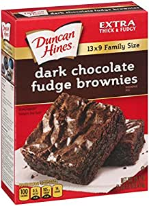 Duncan Hines Brownie Mix, Dark Chocolate Fudge, 18.2 Ounce (Pack of 6)