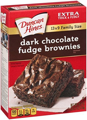 Duncan Hines Brownie Mix, Dark Chocolate Fudge, 18.2 Ounce (Pack of (Dark Chocolate Frosting)