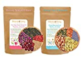 Natural Day & Night Nourish & Body Cleanse Tea Combo, Reduce Stress, Shape You Up, Moisturize Skin, Energy Boost, Rose Lavender,Chrysanthemum, Goji Berries,Oolong Tea,Deliciuos Dried Fruits Snacks