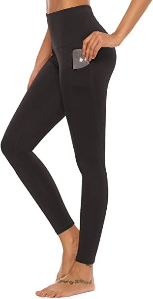 Mint Lilac Womens High Waist Workout Yoga Leggings with Pockets Athletic Tummy Control Running Pants