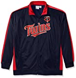 Profile Big & Tall MLB Minnesota Twins Men's Tricot Poly Track Jacket, 4X, Navy/Red