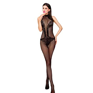 3423ef5cc15 Sexy Women Open Crotch Sleeveless Fishnet Body Stocking Crotchless Sheer Lingerie  Babydoll Bodysuits Nightwear Tights Intimates