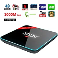 Henscoqi M9X M3 Smart TV Box Amlogic S912 Octa Core ARM Cortex-A53 Android 6.0 RAM DDR3 2GB ROM Onboard eMMC Flash 16GB 1000Mbps LAN BT 4.0 2.4GHZ/5.8GHZ Wifi