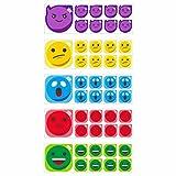 Emoticon smiley set 5x for scrum board