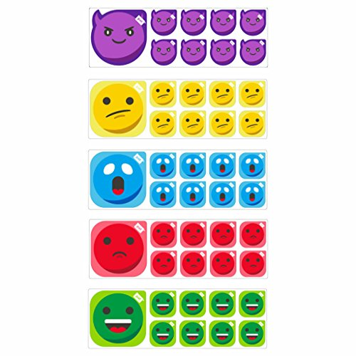 Emoticon smiley set 5x for scrum board by PATboard.com