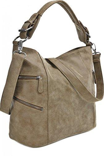 Fritzi de Preussen, mujer Bolsos, Shopper, hombro bolsillos, de Hobo bag, 41x 30x 17cm (B X H X T) marrón