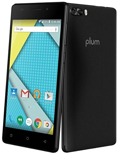 Plum Compass 4G LTE GSM Unlocked Smart Cell Phone 5'' Display Android 7.0 Quad Core 8+5 MP Camera by Plum