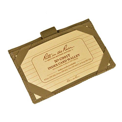 Rite in the Rain Weatherproof Index Card Wallet: Tan CORDURA Fabric Cover, 25 Tan 3