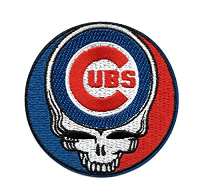 Cubs Steal Your Face Skull Embroidered Patch - Iron On