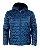 Columbia Men's Crested Butte Omni-Heat Hooded Jacket (Marine Blue Printed, L)
