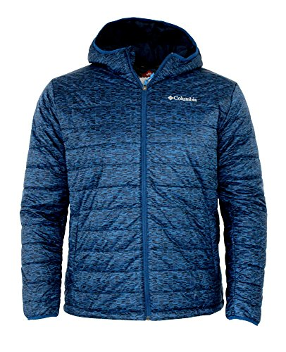 - Columbia Mens Crested Butte Omni-Heat Hooded Jacket (Marine Blue Printed, L)