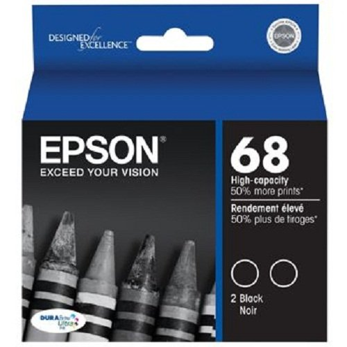Epson T068120-D2 DURABrite Ultra Black Dual Pack High Capacity Cartridge ()