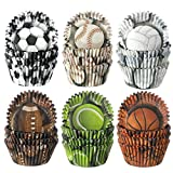 600 Pieces Sports Theme Party Cupcake Liners