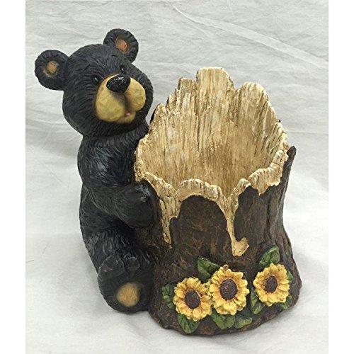 Bear Log Bird Feeder -15064