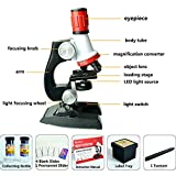 Bluestar Beginner Microscope Kit, Science Kit for kids with LED, 100X, 400x, and 1200x Magnification