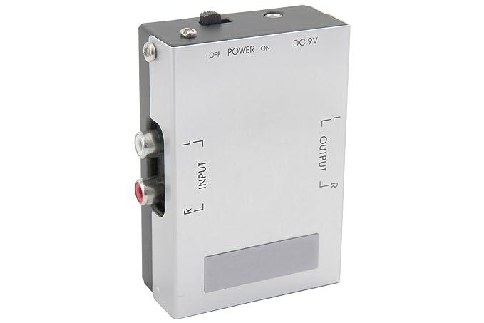 AV Link 128.513 - Preamplificador para Equipo de Audio (9V RCA), Gris