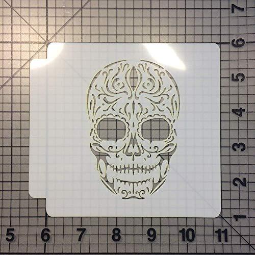 Sugar Skull Stencil 100 (9 inches)]()