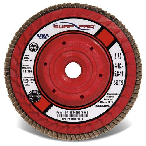 6'' × 5/8''-11 - 80 Grit - Trimmable Ceramic Flap Disc (Pack of 5)