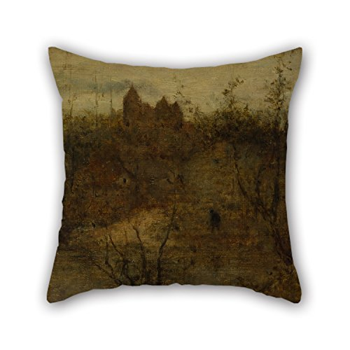 Uloveme Oil Painting Matthijs Maris - The Enchanted Castle Cushion Cases ,best For Father,festival,couples,pub,dance Room,father 16 X 16 Inches / 40 By 40 Cm(each (Enchanted Wishes Costume)
