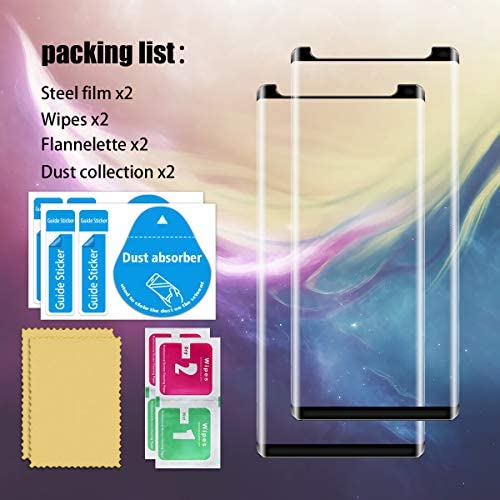 Galaxy Note 8 Screen Protector By YEYEBF, [2 Pack] Full Coverage Tempered Glass Screen Protector [Bubble-Free] [9H Hardness] [3D Touch] Screen Protector Glass For Samsung Galaxy Note 8