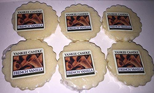 Yankee Candle Lot of 6 French Vanilla Tarts Wax (French Vanilla Tart)