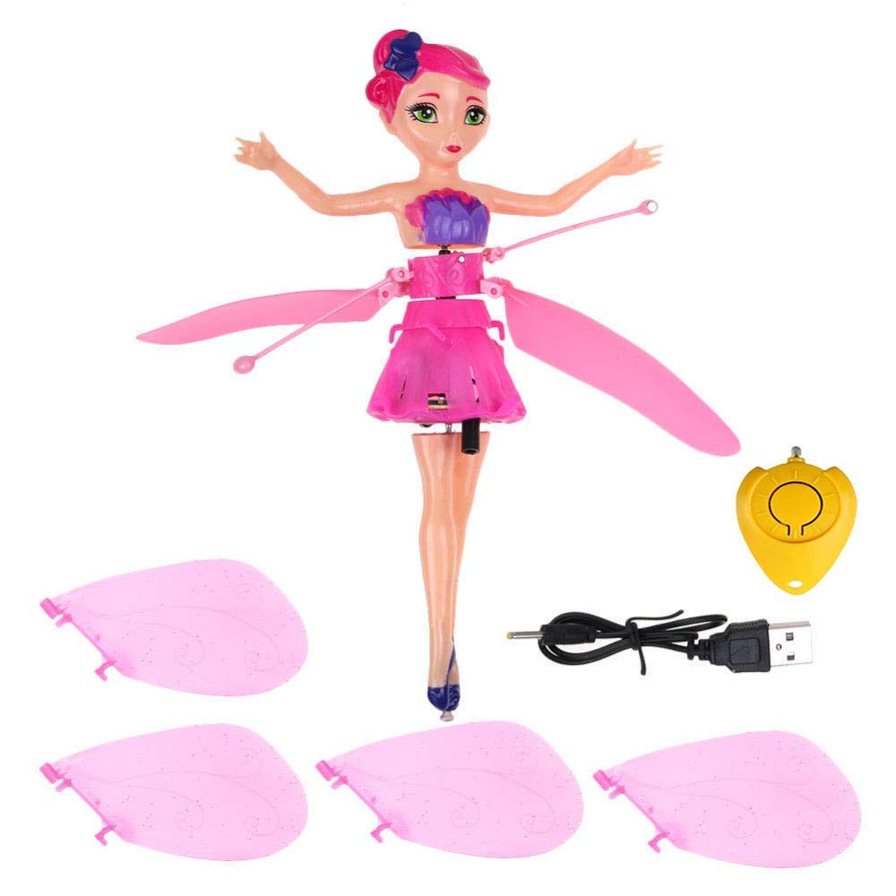 MinaLu Flying Fairy Doll for Girls 6 Years Old,Infrared Induction Teen Toys Flying Princess Doll and Remote Control by MinaLu (Image #4)