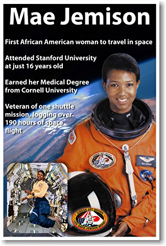 Mae Jemison New African American Nasa Astronaut Space Poster