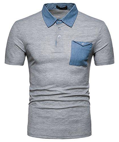 火山学者迅速にやにや(ワトリズ)Whatlees メンズ 半袖 無地 おしゃれ カジュアル ポロシャツ