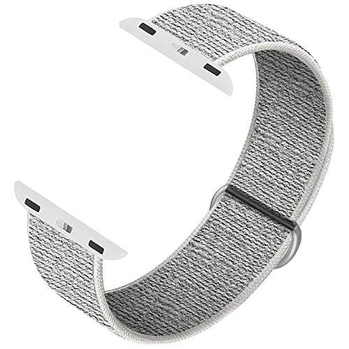INTENY Sport Band Compatible with Apple Watch 38mm 40mm, Soft Sport Loop, Strap Replacement for iWatch Series 5, Series 4, Series 3, Series 2, Series 1 (Summit White, 38mm 40mm)